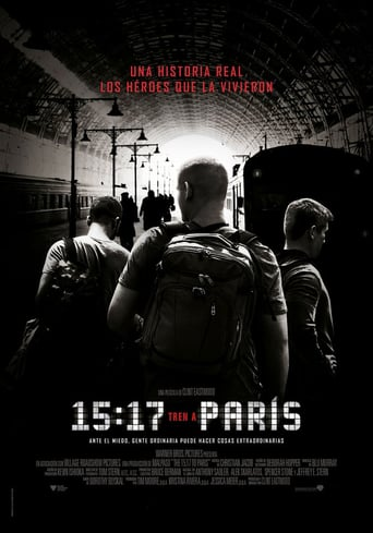 Ver 15:17 Tren a París (2018) (Full HD 1080p) (Latino) [flash] online (descargar) gratis.